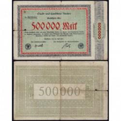 Allemagne - Notgeld - Aachen - 500'000 mark - Série B - 20/07/1923 - Etat : TB-