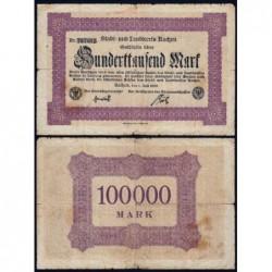 Allemagne - Notgeld - Aachen - 100'000 mark - 01/07/1923 - Etat : TB