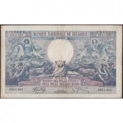 Belgique - Pick 105_2 - 10'000 francs ou 2'000 belgas - 12/03/1938 - Etat : TTB