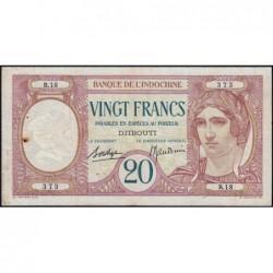 Djibouti - Pick 7b - 20 francs - 1936 - Etat : TB+