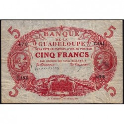 Guadeloupe - Pick 7p_1 - 5 francs - Série T.154 - 1934 - Etat : TB