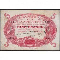 Guadeloupe - Pick 7q - 5 francs - Série G.279 - 1944 - Etat : TB+