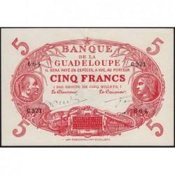 Guadeloupe - Pick 7r - 5 francs - Série C.321 - 1945 - Etat : SUP+