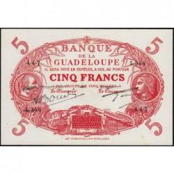 Guadeloupe - Pick 7r - 5 francs - Série C.344 - 1945 - Etat : SPL+