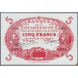 Guadeloupe - Pick 7r - 5 francs - Série C.344 - 1945 - Etat : SPL