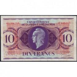 Guadeloupe - France Outre-Mer - Pick 27 - 10 francs - Série GF - 1944 - Etat : TTB