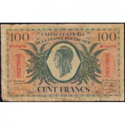 Guadeloupe - France Outre-Mer - Pick 29 - 100 francs - Série PP - 1944 - Etat : B+