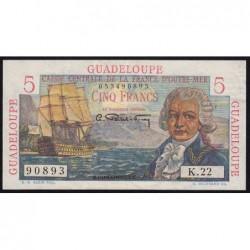 Guadeloupe - France Outre-Mer - Pick 31 - 5 francs - Série K.22 - 1946 - Etat : SUP+