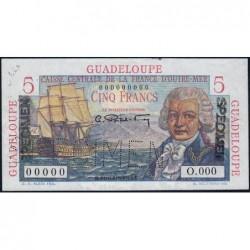 Guadeloupe - France Outre-Mer - Pick 31s - 5 francs - 1946 - Spécimen - Etat : SUP+
