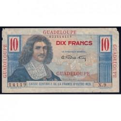 Guadeloupe - France Outre-Mer - Pick 32 - 10 francs - Série X.9 - 1946 - Etat : TB