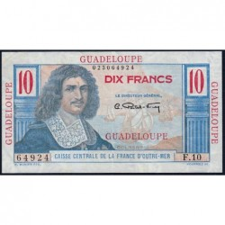 Guadeloupe - France Outre-Mer - Pick 32 - 10 francs - Série F.10 - 1946 - Etat : TTB+