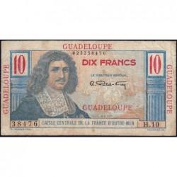 Guadeloupe - France Outre-Mer - Pick 32 - 10 francs - Série H.10 - 1946 - Etat : TB