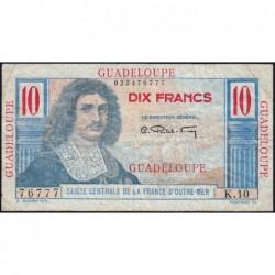 Guadeloupe - France Outre-Mer - Pick 32 - 10 francs - Série K.10 - 1946 - Etat : TB