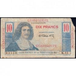 Guadeloupe - France Outre-Mer - Pick 32 - 10 francs - Série K.11 - 1946 - Etat : AB