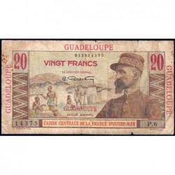 Guadeloupe - France Outre-Mer - Pick 33 - 20 francs - Série P.6 - 1946 - Etat : B+