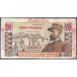 Guadeloupe - France Outre-Mer - Pick 33 - 20 francs - Série S.6 - 1946 - Etat : TB