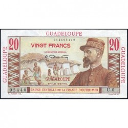 Guadeloupe - France Outre-Mer - Pick 33 - 20 francs - Série U.6 - 1946 - Etat : pr.NEUF