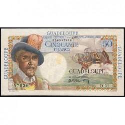 Guadeloupe - France Outre-Mer - Pick 34 - 50 francs - Série D.21 - 1946 - Etat : TTB+