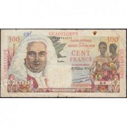 Guadeloupe - France Outre-Mer - Pick 35 - 100 francs - Série B.6 - 1946 - Etat : B+ à TB-