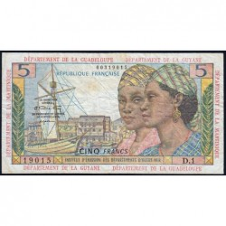 Antilles Françaises - Pick 7a - 5 francs - Série D.1 - 1964 - Etat : TB à TB+