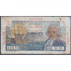 Guyane Française - France Outre-Mer - Pick 19 - 5 francs - Série W.23 - 1946 - Etat : TB-