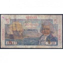 Guyane Française - France Outre-Mer - Pick 19 - 5 francs - Série W.23 - 1946 - Etat : B
