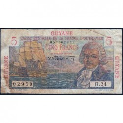 Guyane Française - France Outre-Mer - Pick 19 - 5 francs - Série B.24 - 1946 - Etat : B+