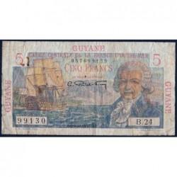 Guyane Française - France Outre-Mer - Pick 19 - 5 francs - Série B.24 - 1946 - Etat : TB-