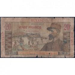 Guyane Française - France Outre-Mer - Pick 21 - 20 francs - Série W.5 - 1946 - Etat : AB