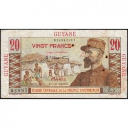 Guyane Française - France Outre-Mer - Pick 21 - 20 francs - Série Z.5 - 1946 - Etat : TB+