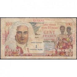 Guyane Française - France Outre-Mer - Pick 29 - 1 nouv. franc sur 100 francs - Série L.4 - 1960 - Etat : TB