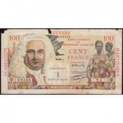 Antilles Françaises - Pick 1 - 1 nouv. franc sur 100 francs - Série Y.1 - 1960 - Etat : B
