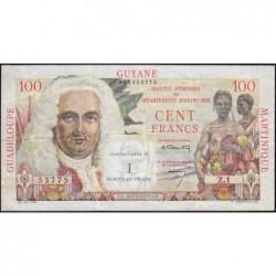 Antilles Françaises - Pick 1 - 1 nouv. franc sur 100 francs - Série Z.1 - 1960 - Etat : TTB