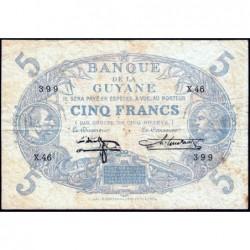 Guyane Française - Pick 1i - 5 francs - Série X.46 - 1944 - Etat : TB