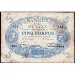 Guyane Française - Pick 1j - 5 francs - Série S.68 - 1946 - Etat : TB