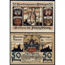 Allemagne - Notgeld - Göttingen - 50 pfennig - 26/04/1917 (1919) - Etat : pr.NEUF
