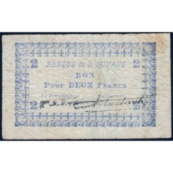 Guyane Française - Pick 11C_1 - 2 francs - 1945 - Etat : TB