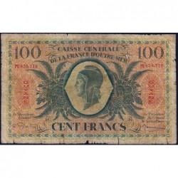Guyane Française - France Outre-Mer - Pick 17 - 100 francs - Série PU - 1946 - Etat : B+-
