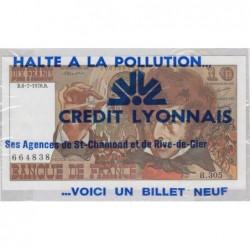F 63-24 - 06/07/1978 - 10 francs - Berlioz - Série B.305 - Publicité Crédit Lyonnais Loire - Etat : NEUF