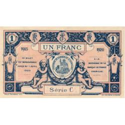 Aurillac (Cantal) - Pirot 16-4c-C - 1 franc - 1915 - Etat : SUP