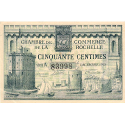La Rochelle - Pirot 66-1 - 50 centimes - Série A - 10/1915 - Etat : SUP