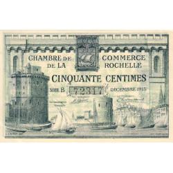 La Rochelle - Pirot 66-1 - 50 centimes - Série B - 10/1915 - Etat : SUP