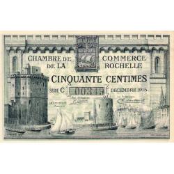 La Rochelle - Pirot 66-1a - Série C - 50 centimes - 1915 - Etat : SUP+