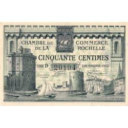 La Rochelle - Pirot 66-1- 50 centimes - Série D - 10/1915 - Etat : SPL