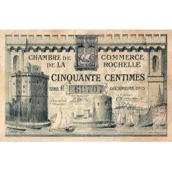 La Rochelle - Pirot 66-1a-E - 50 centimes - 1915  - Etat : TB+