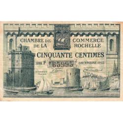 La Rochelle - Pirot 66-1 - 50 centimes - Série F - 10/1915 - Etat : TB
