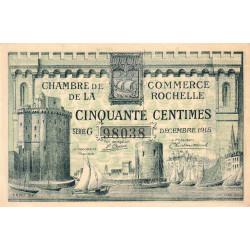 La Rochelle - Pirot 66-1 - 50 centimes - Série G - 10/1915 - Etat : SPL