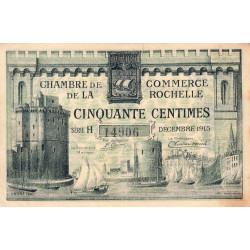 La Rochelle - Pirot 66-1 variété - 50 centimes - Série H - 10/1915 - Etat : TB+