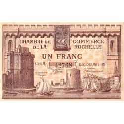 La Rochelle - Pirot 66-3 variété - 1 franc - Série A - 10/1915 - Etat : SUP+