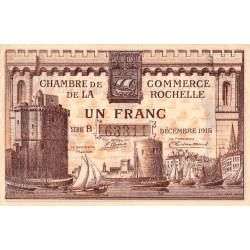 La Rochelle - Pirot 66-3a-B - 1 franc - 1915  - Etat : TTB